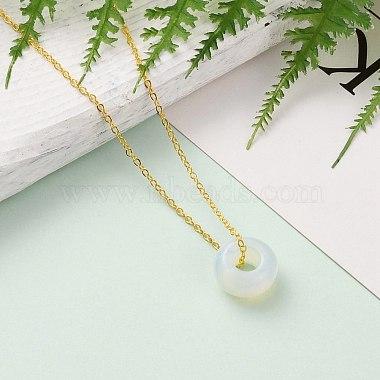 Rondelle Opalite Pendant Necklaces(NJEW-JN03237-04)-4