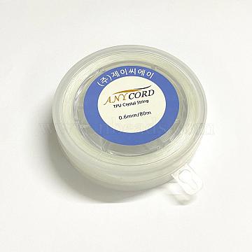 Korean Elastic Crystal String, Elastic Beading Thread, for Stretch Bracelet Making, Clear, 0.5mm, about 109.36 yards(100m)/roll(EW-G009-01-0.5mm)