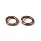 90pcs Antique Bronze Brass Jump Rings(X-JRC6MM-AB)-2