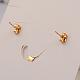 Drop 304 Stainless Steel Acrylic Pendants & Stud Earrings Jewelry Sets(SJEW-F047-02A)-2