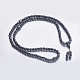Non-magnetic Synthetic Hematite Mala Beads Necklaces(NJEW-K096-04)-1