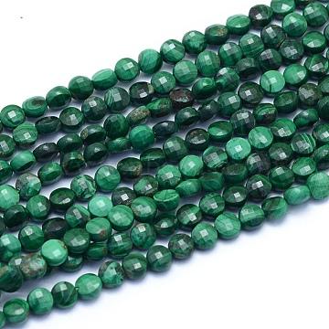 4mm Flat Round Malachite Beads