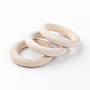 Unfinished Wood Linking Rings, Natural Wooden Ring, Ring, PapayaWhip, 55~56x10mm, Hole: 35mm