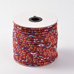 tissu de corde cordes ethniques, firebrick, 6 mm; environ 50 verges / rouleau (150 pieds / rouleau)(OCOR-F003-6mm-04)