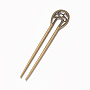 Antique Bronze Alloy Hair Sticks(OHAR-WH0016-06C)