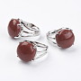 Red Red Jasper Finger Rings(RJEW-F075-01N)