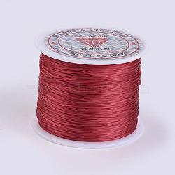 Chaîne de cristal élastique plat, fil de perles élastique, pour la fabrication de bracelets élastiques, firebrick, 0.5 mm; environ 45 m/rouleau(X-EW-P002-0.5mm-A10)