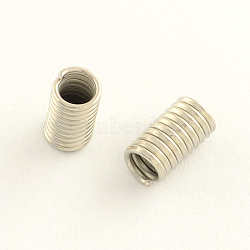 Iron Spring Beads, Coil Beads, Platinum, 8x4.5mm, Hole: 3mm; about 595pcs/1000g(IFIN-R195-04P)