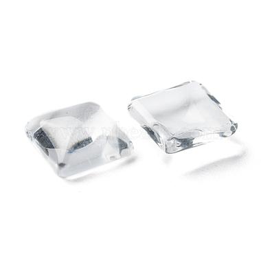 Transparent Clear Glass Square Cabochons(X-GGLA-A001-10mm)-3