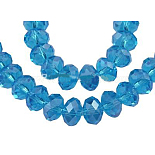 12mm DeepSkyBlue Abacus Electroplate Glass Beads(GR12MMY-20L)