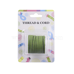 Faux Suede Cord, Faux Suede Lace, Olive Drab, 3x1.5mm; about 5m/roll(X-LW-R003-1037)