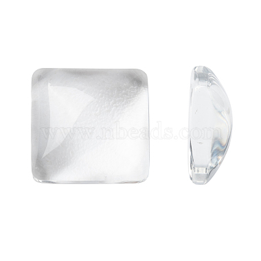 10mm Clear Square Glass Cabochons