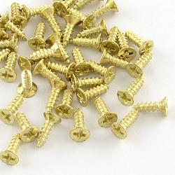 Железная фурнитура винта, золотые, 8x4.5 мм; контактный: 2.5 мм; о 2230шт / 500g(IFIN-R203-29G)
