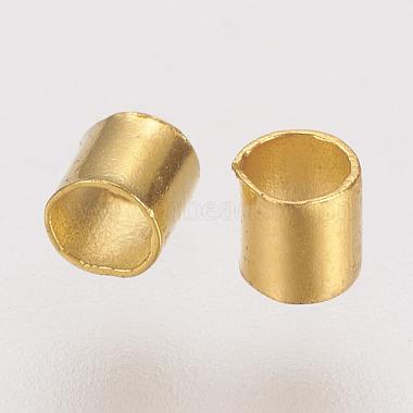 Brass Crimp Beads(X-KK-L021-G)-2