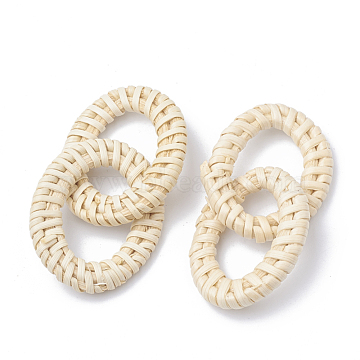 65mm AntiqueWhite Oval Others Linking Rings