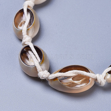 Adjustable Cowrie Shell Beads Lariat Necklaces(X-NJEW-JN02394)-3