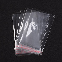 Clairement cadeau cellophane faveur mini sacs, 8 cm de largeur, 12 cm de long, épaisseur unilatérale: 0.035 mm(X-OPC003)