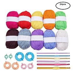 Couleur mixte, Fil: 2~3mm, 100 m / rouleau; crochets: 148x3.5~8mm; outil: 51~99x35~90x12mm(DIY-BC0002-02)