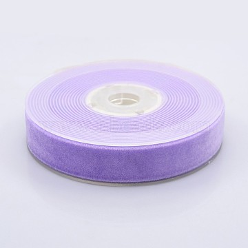 Polyester Velvet Ribbon for Gift Packing and Festival Decoration, Lilac, 3/4 inch(19mm), about 25yards/roll(22.86m/roll)(SRIB-M001-19mm-430)