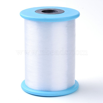 Fishing Thread Nylon Wire, White, 0.8mm, about 218.72 yards(200m)/roll(NWIR-R038-0.8mm-02)