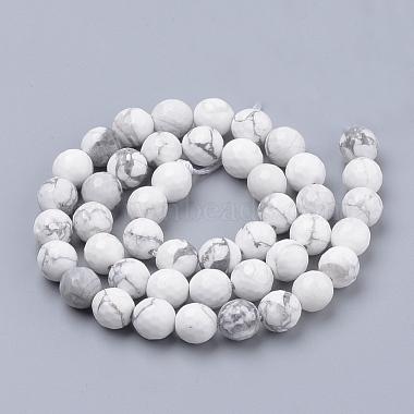 Natural Howlite Beads Strands(G-Q462-124-4mm)-2