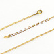 Iron Curb Chain Necklace Makings(X-NJEW-R187-G)-2