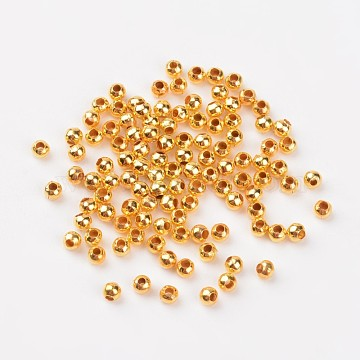 Golden Round Iron Spacer Beads, Metal Findings Accessories for DIY Crafting, Metal Findings for Jewelry Making Supplies, about 3.2mm in diameter, 3mm thick, Hole: 1.2mm (X-E006-G)