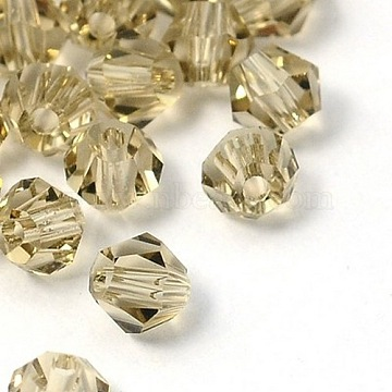 Faceted Bicone Imitation Crystallized Crystal Glass Beads, SlateGray, about 4mm in diameter, 3.5mm thick, hole: 1mm(X-G22QS082)