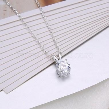 Trendy Brass Pendant Necklaces(NJEW-BB33852)-4