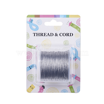 Metallic Cord, 8-Ply, In Silver Color, 0.8mm wide, about 109.36 yards(100m)/roll(X-AS013)