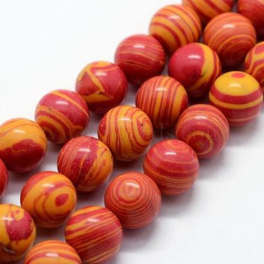 Synthetic Malachite Beads Strands(G-I199-32-10mm)-2