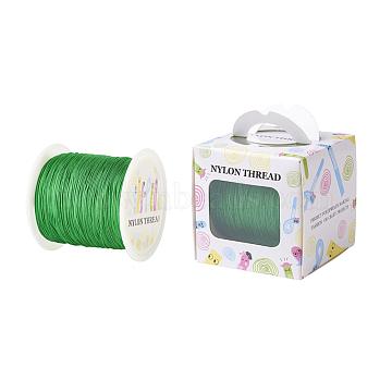 Nylon Thread, Green, 0.5mm; about 147.64yards/roll(135m/roll)(NWIR-JP0009-0.5-233)