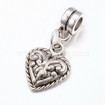 26mm Heart Alloy Dangle Beads