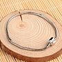 латунь европейские браслеты типа для изготовления ювелирных изделий, платина, 210 mm