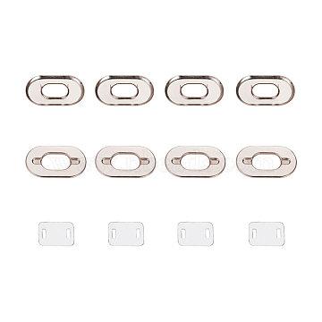 NBEADS Iron Purse Twist Turn Lock Sets, Platinum, 4.2x6.7cm, 10sets/box(IFIN-NB0001-03)