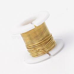 Fil de bijoux en cuivre, or, 0.3 mm; 50 m / rouleau(CWIR-R004-0.3mm-10)