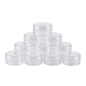 Plastic Bead Containers, Round, about 3.9cm in diameter, 2.2cm high, Capacity: 10ml(0.34 fl. oz)(X-C076Y)