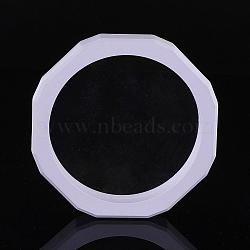 Пластиковые каркасы, с трансмиссионной мембраной, Для кольца, кулон, браслет ювелирных изделий, восьмиугольник, белые, 127x20 мм(ODIS-P005-02-A)