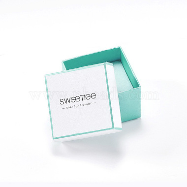 White Square Paper Earring Boxes