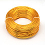 Aluminum Wire, Flexible Craft Wire, for Beading Jewelry Doll Craft Making, Orange, 22 Gauge, 0.6mm; 280m/250g(918.6feet/250g)
