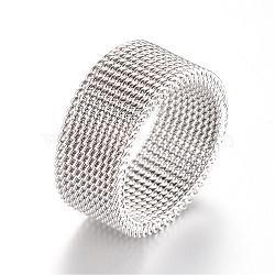 304 inoxydable supports de bague de doigts en acier, couleur inoxydable, 19mm(MAK-R010-19mm)