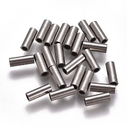 304 Stainless Steel Tube Beads, Stainless Steel Color, 8x3mm, Hole: 2mm(STAS-F224-01P-C)