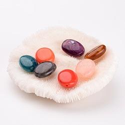 Perles acryliques mixtes de perles ovales, Longueur 19mm,  largeur de 15 mm, épaisseur de 7.5mm, Trou: 2mm(X-PGB277Y)