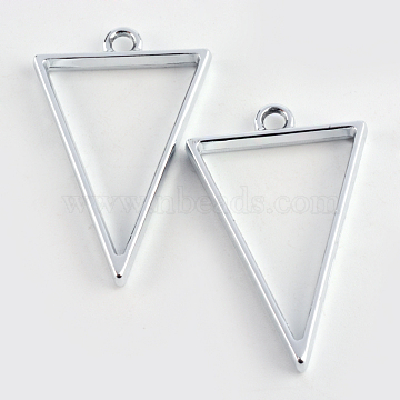 Silver Triangle Alloy Pendants