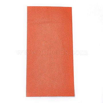 Self Adhesive PU Imitation Leather Stickers, For DIY Crafts, Orange, 200x100x0.8mm(DIY-O001-02)