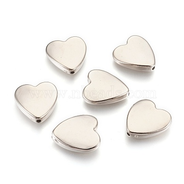 CCB Plastic Beads, Heart, Platinum, 24x23x6mm, Hole: 2mm(CCB-O001-04P)