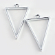 Rack Plating Alloy Triangle Open Back Bezel Pendants(X-PALLOY-S047-09D-FF)-1