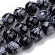 Natural Snowflake Obsidian Beads Strands(G-S259-20-10mm)-1