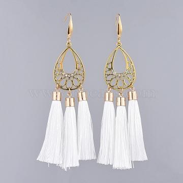 Creamy White Polyester Earrings