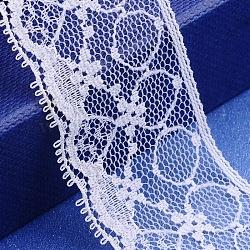 """Fil de nylon de garniture de dentelle pour la fabrication de bijoux, blanc, 1-1/8"""" (29 mm); 300yards / roll (274.32m)(X-OCOR-I001-053)"""